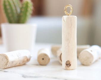 Natural Driftwood Keyring // keychain / key fob / beach accessories