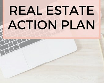Real Estate Agent Action Plan Template, Real Estate Templates, Real Estate Stationery