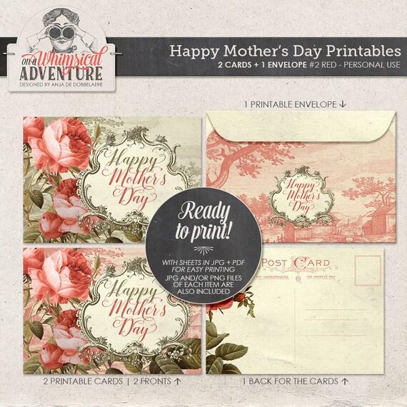 mother 39 s day printable collage sheet instant download happy mother 39 s day printable postcard. Black Bedroom Furniture Sets. Home Design Ideas