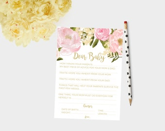 Dear Baby Cards, Baby Shower Cards, Baby Shower Games, Baby Shower Games,