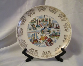 Vintage Ohio State collectors plate 9 1/4 inches