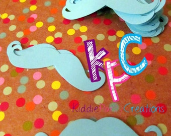 Mustache Confetti Die Cuts for Scrapbooking or Party Decor Choice of Color Cardstock 50 Pieces
