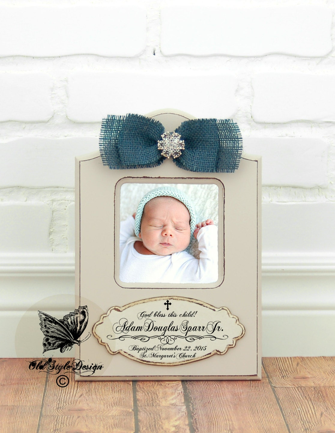 Baptism Gift BOY Christening Gift Boy Personalized picture