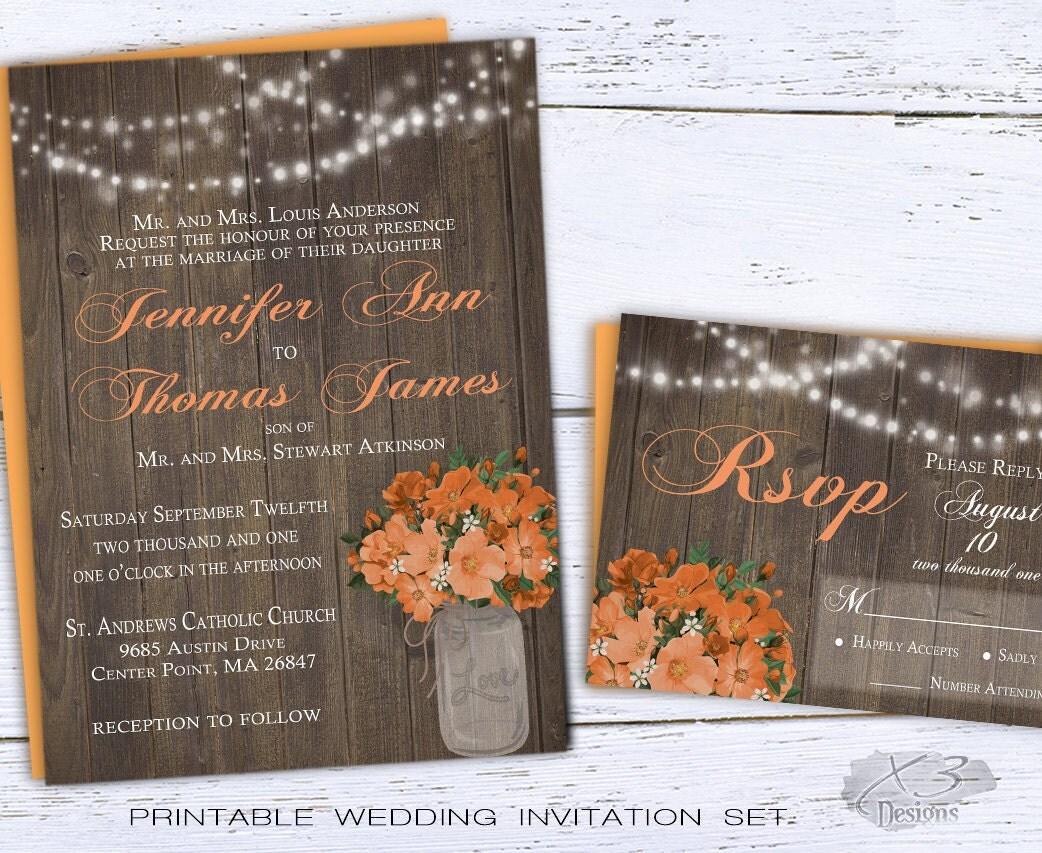 Summer Wedding Invitations: Printable Summer Wedding Invitations Country Wedding Invites