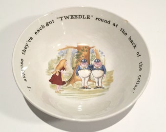 Vintage Alice in Wonderland Bowl by Johnson Brothers