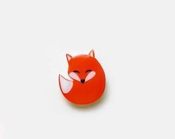 Fox Pin, Animal Pin, Gift Idea, Nursery Pin, Orange Fox,