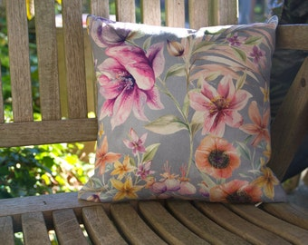 12 inch Limited Edition Bright Floral Cushion