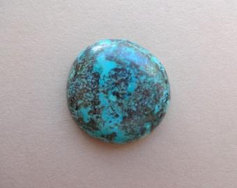 Chrysocolla- round cabochon 19x4 mm