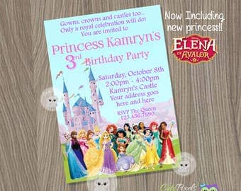 Disney Princess Invitation, Princess Birthday Invitation, Disney Princess Party, Princess Invitation, Disney Princess, Princess Birthday