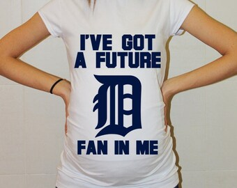 Detroit Tigers Women Baseball Shirt Detroit Tigers Baby Maternity Shirt Funny Pregnancy Pregnancy Shirts Pregnancy Clothes