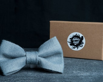 Dog Bowtie - Collar accessories - Handmade felt bow tie - idea gift for dogs and puppies - Dark grey