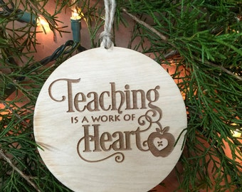 Ornament, Teacher Ornament, Gift for Teacher, Teacher Gift, Teacher Stocking Stuffer, Teacher Gift Tag, Gift Tag, Christmas Gift Tag
