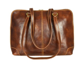 Leather Hobo, Womens Brown Leather Tote Bag, Leather Shoulder Bag, Tote Bag Women - Vanity Fair