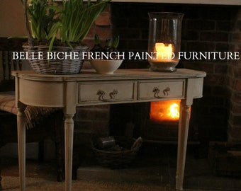 SOLD *** Gustavian Style Reproduction George III Demi Lune Console