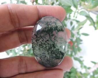 Exotic Moss Agate Mocha Stone Natural gemstone Cabochon