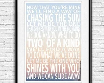 Oasis Slide Away Quote Poster