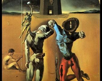 "Salvador Dali, Salvador Dali Print, Salvador Dali Art, Dali Poster, Surrealist, Weird, Strange, Dali, Altered Art, ""The Poetry Of America"""