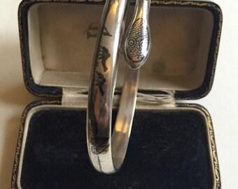 Vintage Silver Snake bracelet, divine piece