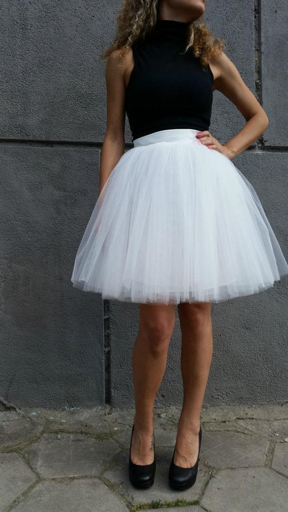 tulle tutu skirt white tutu skirt princess skirt