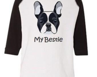 My Bestie French Bulldog Kids Shirt