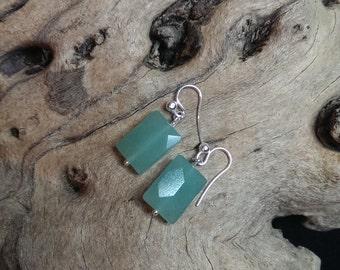 Aventurine & Sterling Silver earrings
