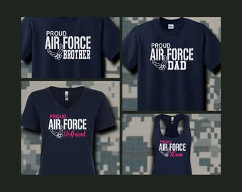 Proud Air Force Family Shirts