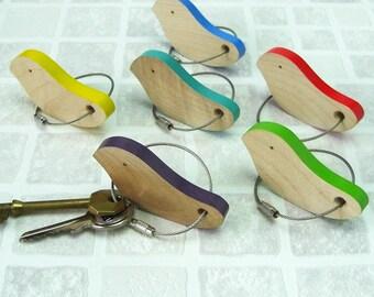 Keyring, bird, key ring, key chain, bag charm, key fob, handmade, gift, present, accessory, house warming, new home, cottage