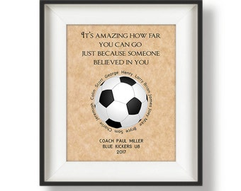 Soccer Coach Gifts - Personalized - Coach Gifts - Soccer Coach Gift Ideas - Gifts for Coaches - Gifts for Soccer Coaches - It's Amazing