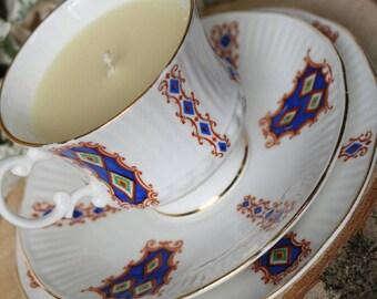 Vanilla Sundae Scented Soy Wax Teacup Candle - Gift ideas- Home Decor -