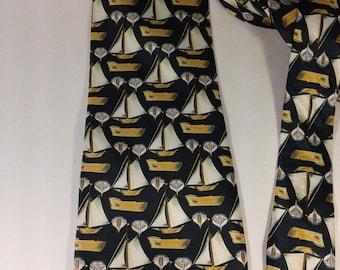 Men's Necktie, Navy Blue tie, Men's Accessories, Vintage Necktie, Vintage Tie, 100 % Silk tie