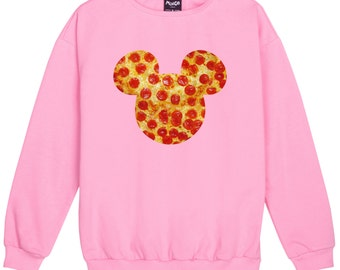 mouse pizza SWEATER JUMPER womens ladies fun tumblr hipster fashion grunge retro top kawaii goth cute vintage ears food indie boho festival