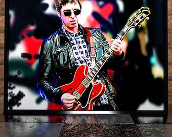 Noel Gallagher - Oasis - High Flying Birds - Painting Digital Poster Print - Oasis Illustration - Noel Gallagher Poster