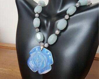 Moonstone quartz necklace