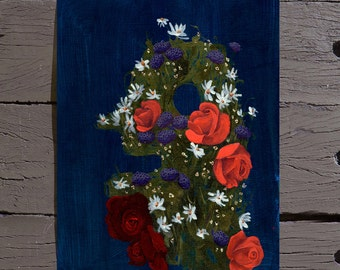 Flower Head #6 (Acrylic on Canvas Paper)