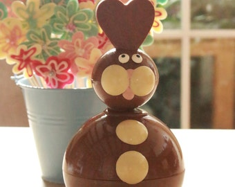 Giant Chocolate Easter Bunny Egg. Novel and unique Handmade Easter Egg. Decadent Chocolate Novelty for Easter.\Made with Belgian Chocolate.
