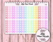 36 Pastel Heart Checklist Stickers P-34 - Perfect for Erin Condren Life Planners / Journals / Stickers.