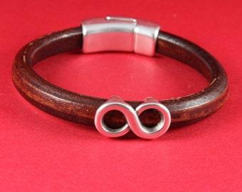 MADE IN EUROPE 2 zamak infinity sliders, licorice infinity knot slider, 10x6mm  sliders, silver infinity sliders(8503-0077) Qty2