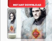 Instant Download - Jon Snow Printable Prayer Candle - Game of Thrones Candle - DIY - Game of Thrones Fan Art - Mailed Option Available