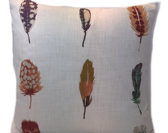 Harlequin Fabric Cushion Cover Limosa Loganberry/Raspberry/Olive Linen Mix -   Cushion Covers - pillow throws