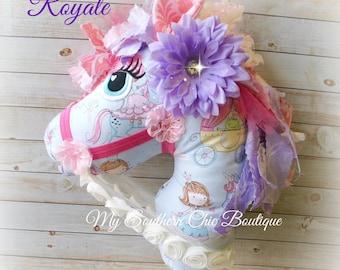 Hobby Horse- Toy horse- Stick horse- Princess Hobby Horse- Girl Hobby Horse- Pony- Keepsake- gift- Nursery Decor- Baby Girl- Toy Horse- Baby