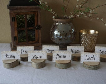Set of 15 Rustic Place Card Holders - Place Holders - Rustic Wedding Decor - Tree Card Holders - Rustic Wedding Supplies - Rustic Wedding