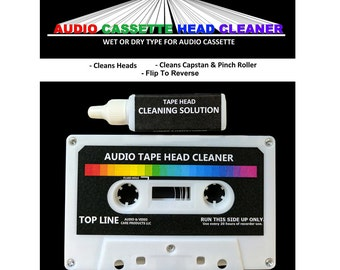 Top Line Audio Cassette Tape Head Cleaner w/ Cleaning Solution, #102