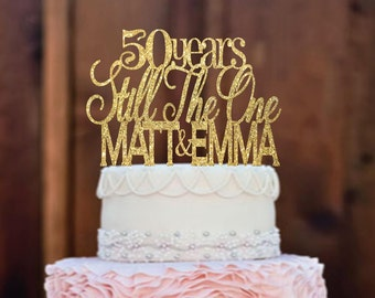 Cake Topper - Anniversary Cake Topper - Anniversary Decorations - Vow Renewal Cake Topper - 50th Anniversary - Wedding cake topper