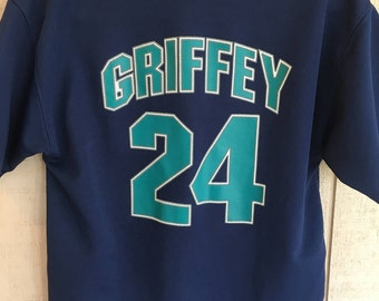 Vintage 90's Genuine Starter Seattle Mariners Ken Griffey Jr Jersey, Kids Size Large, Adult Small, My Oh My!