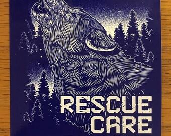 Saint Francis Wolf Sanctuary Stickers!