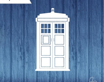 TARDIS decal, Doctor Who Decal, Dr Who decal, police box decal