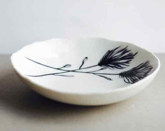 Hand painted ceramic plate - Porcelain plate - Pottery plate - Small plate