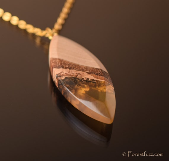 resin wood necklace handmade jewelry epoxy resin wood resin