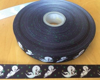 Ghost  ribbons, Halloween ribbons, fall ribbons, 7/8 inch Grosgrain ribbons, perfect for hairbows, scrapbooking and more