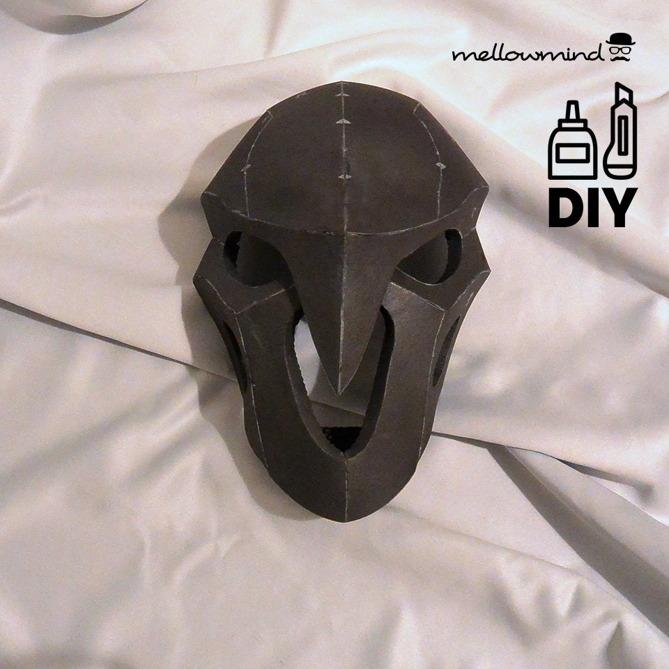 diy overwatch reaper 39 s mask template for eva foam. Black Bedroom Furniture Sets. Home Design Ideas